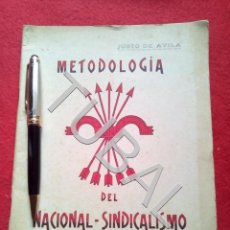 Libros antiguos: TUBAL METODOLOGIA DEL NACIONAL SINDICALISMO FALANGE GUERRA CIVIL LIBRO ANTIGUO G8. Lote 177657134