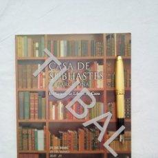 Libros antiguos: TUBAL CAZA CINEGETICA CATALOGO SUBASTA 25 MAYO 2000. Lote 160636838