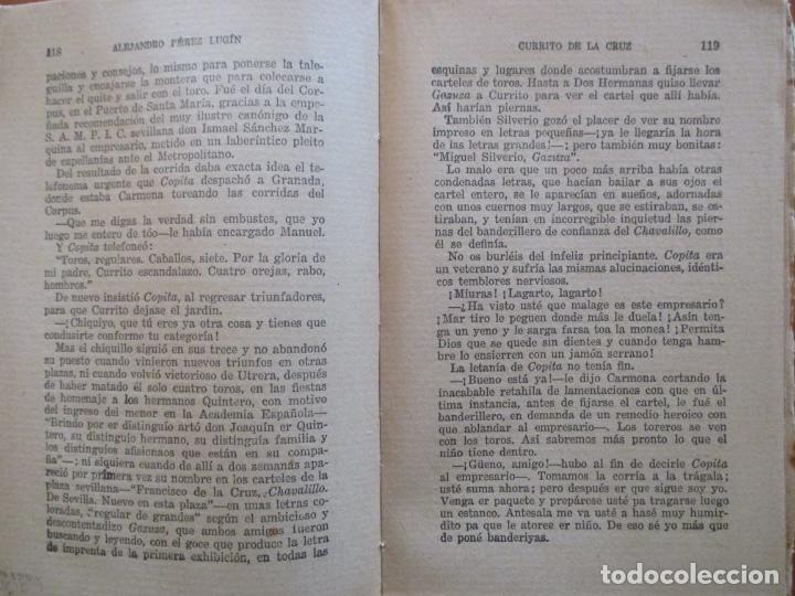 Libros antiguos: CURRITO DE LA CRUZ. 2 TOMOS. ALEJANDRO PÉREZ LUGIN. 1924. NOVELA. 11ª EDICIÓN - Foto 3 - 160673102