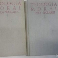 Libros antiguos: TEOLOGIA MORAL PARA SEGLARES BAC 1957 Y 1958. Lote 160883690