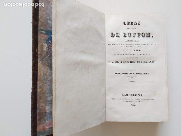 Libros antiguos: OBRAS COMPLETAS DE BUFFON. 30 VOLÚMENES (COMPLETA) 1835 - Foto 5 - 161010294
