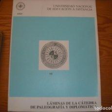 Libros antiguos: LÁMINAS DE LA CÁTEDRA DE PALEOGRAFÍA Y DIPLOMÁTICA. Lote 161195062