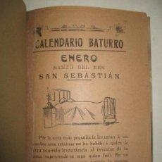 Libros antiguos: CALENDARIO BATURRO. C. 1900.. Lote 123140282