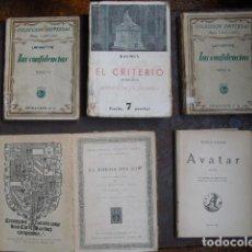 Libros antiguos: CINCO VOLÚMENES LITERATURA. Lote 161327910