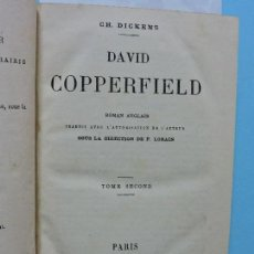 Libros antiguos: DAVID COPPERFIELD TOME SECOND. DICKENS, CHARLES. ED. LIBRAIRIE HACHETTE. PARIS 1879. Lote 161624766