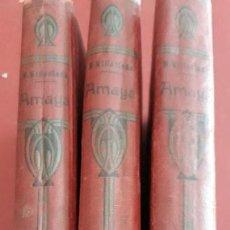 Libros antiguos: AMAYA O LOS VASCOS EN EL SIGLO VIII. 3 TOMOS. NAVARRO VILLOSLADA. 1909. Lote 161794930