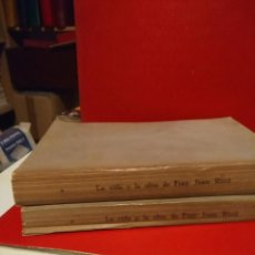 Libros antiguos: LA VIDA Y OBRA DE FRAY JUAN RICCI (2 VOLUMENES ) MUY ILUSTRADO ( EDITADOS EN 1930). Lote 161835302