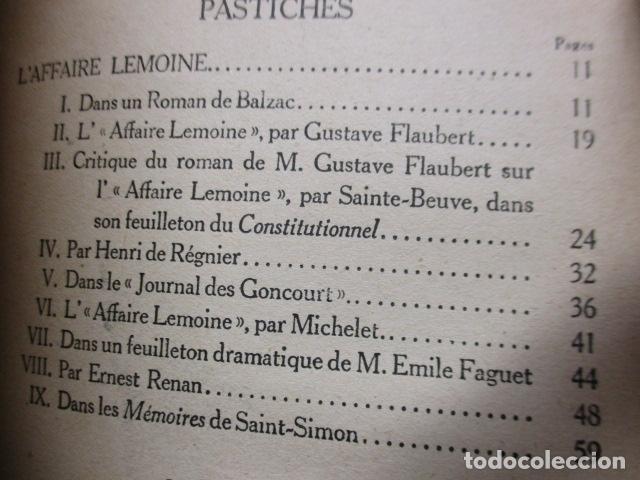 Libros antiguos: Pastiches et mélanges. (Francés) Tapa dura – 1919 de PROUST Marcel. - Foto 15 - 161927066