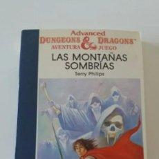 Libros antiguos: TIMUN MAS - DUNGEONS AND DRAGONS AVENTURA JUEGO - 18 - LAS MONTAÑAS SOMBRÍAS. Lote 161947010