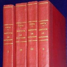 Libros antiguos: NOTICIAS DE LA HISTORIA GENERAL DE LAS ISLAS CANARIAS. 4 TOMOS (OBRA COMPLETA). Lote 162094230