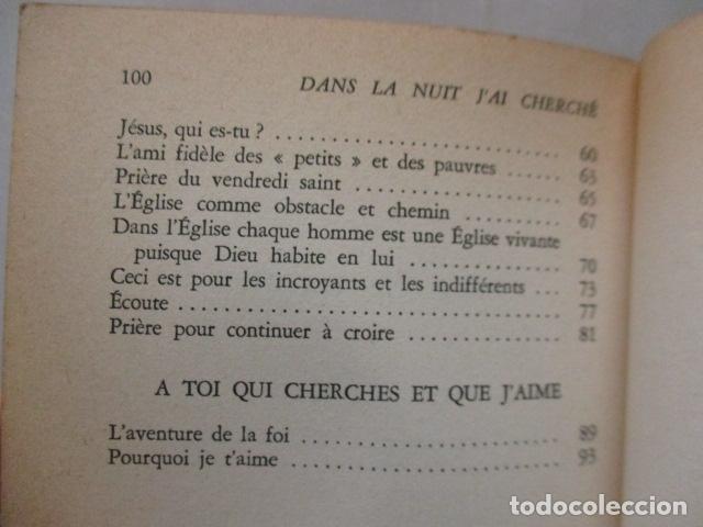 Libros antiguos: DANS LA NUIT JAI CHERCHE - de LOEW, Jacques (EN FRANCES) - Foto 8 - 162404910
