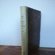 Libros antiguos: MANUAL DEL LIBRERO HISPANO-AMERICANO, TOMO 3 DE LA D A LA G. Lote 162483066