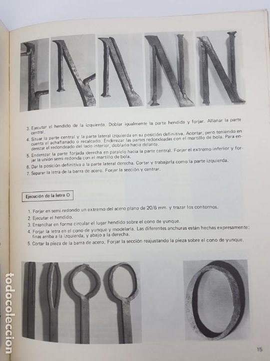 Libros antiguos: CERRAJERIA ARTÍSTICA, LETRAS, NÚMEROS Y FLORES ( F. WOLF 1986 ) ÚNICO EN TC - Foto 5 - 162595974
