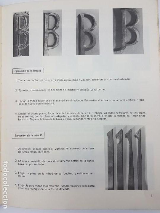 Libros antiguos: CERRAJERIA ARTÍSTICA, LETRAS, NÚMEROS Y FLORES ( F. WOLF 1986 ) ÚNICO EN TC - Foto 6 - 162595974