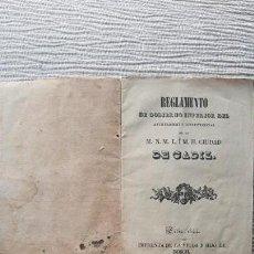 Libros antiguos: CADIZ - REGLAMENTO DE RÉGIMEN INTERIOR DEL AYUNTAMIENTO 1844. Lote 162694058