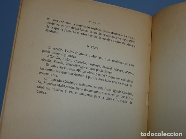 Libros antiguos: ÍNDICE CRÍTICO DE LAS OBRAS DEL ESCULTOR PEDRO DE MENA Y MEDRANO EN MÁLAGA-F. DE P.L. LA VEGA-1910 - Foto 6 - 162874606