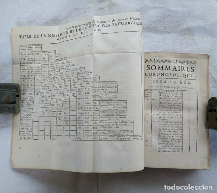 Libros antiguos: LIBRO DE 1739. HISTORIA DEL PUEBLO DE DIOS, ESCRITO EN FRANCÉS Y EDITADO EN PARÍS. - Foto 3 - 162876250