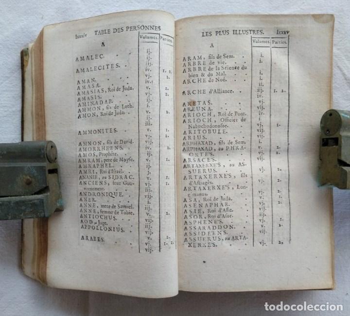 Libros antiguos: LIBRO DE 1739. HISTORIA DEL PUEBLO DE DIOS, ESCRITO EN FRANCÉS Y EDITADO EN PARÍS. - Foto 4 - 162876250