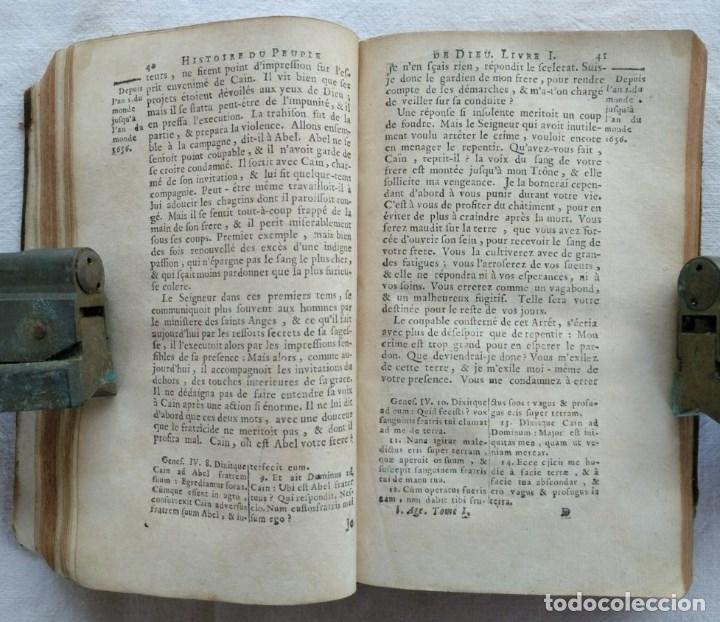Libros antiguos: LIBRO DE 1739. HISTORIA DEL PUEBLO DE DIOS, ESCRITO EN FRANCÉS Y EDITADO EN PARÍS. - Foto 5 - 162876250