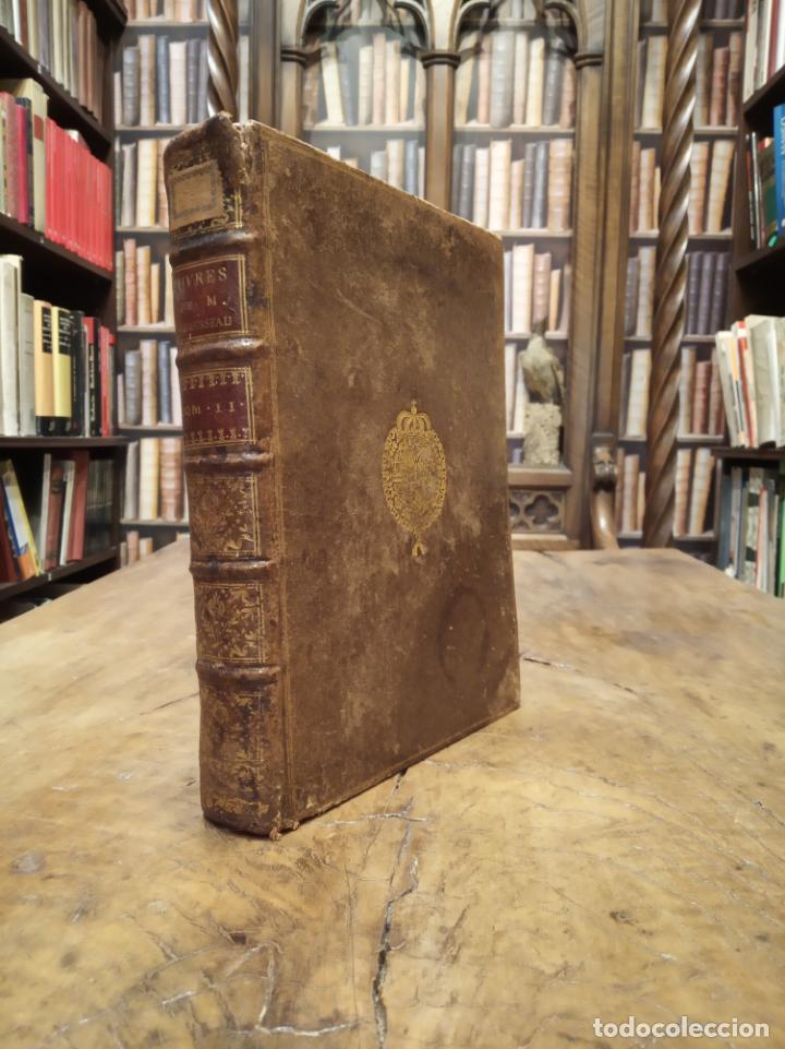 OEUVRES DE M. LE CHANCELIER D'AGUESSEAU. TOME SECOND. A PARÍS. CHEZ LES LIBRAIRES ASSOCIÉS. 1761. (Libros Antiguos, Raros y Curiosos - Otros Idiomas)