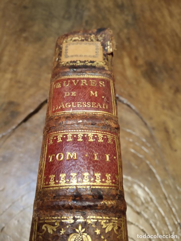 Libros antiguos: Oeuvres de M. le Chancelier DAguesseau. Tome second. A París. Chez les libraires associés. 1761. - Foto 5 - 162901186