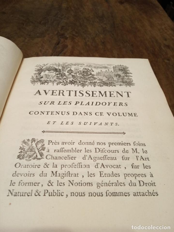 Libros antiguos: Oeuvres de M. le Chancelier DAguesseau. Tome second. A París. Chez les libraires associés. 1761. - Foto 11 - 162901186