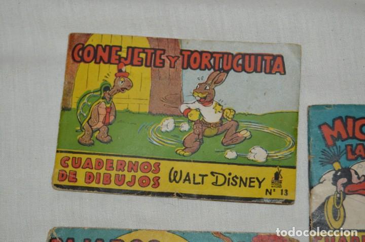 Libros antiguos: LOTE DE 3 CUADERNOS DE DIBUJOS WALT DISNEY - Nº 13, 15 Y 18 - EDITORIAL MOLINO - VINTAGE - Foto 2 - 162966602