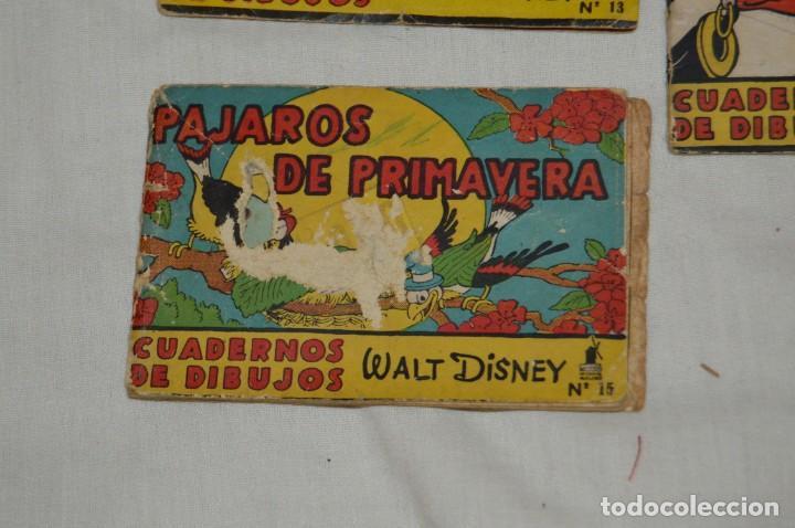 Libros antiguos: LOTE DE 3 CUADERNOS DE DIBUJOS WALT DISNEY - Nº 13, 15 Y 18 - EDITORIAL MOLINO - VINTAGE - Foto 3 - 162966602
