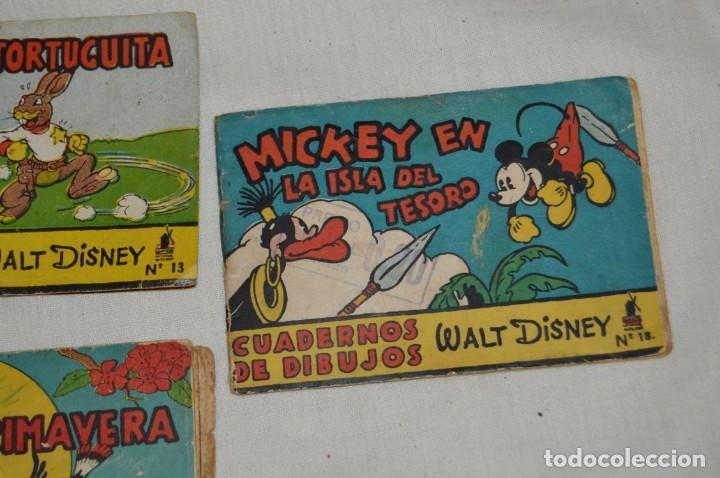 Libros antiguos: LOTE DE 3 CUADERNOS DE DIBUJOS WALT DISNEY - Nº 13, 15 Y 18 - EDITORIAL MOLINO - VINTAGE - Foto 4 - 162966602