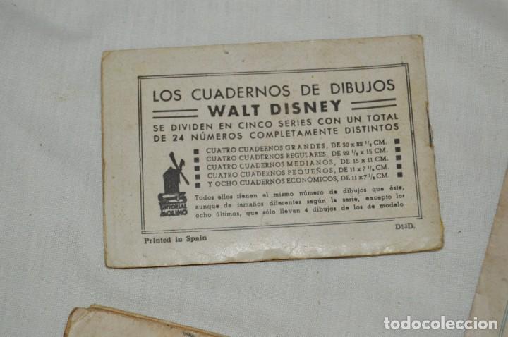Libros antiguos: LOTE DE 3 CUADERNOS DE DIBUJOS WALT DISNEY - Nº 13, 15 Y 18 - EDITORIAL MOLINO - VINTAGE - Foto 6 - 162966602