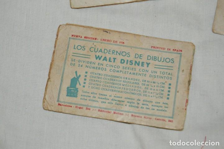 Libros antiguos: LOTE DE 3 CUADERNOS DE DIBUJOS WALT DISNEY - Nº 13, 15 Y 18 - EDITORIAL MOLINO - VINTAGE - Foto 7 - 162966602