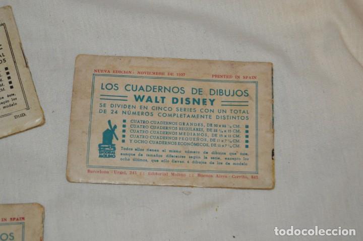 Libros antiguos: LOTE DE 3 CUADERNOS DE DIBUJOS WALT DISNEY - Nº 13, 15 Y 18 - EDITORIAL MOLINO - VINTAGE - Foto 8 - 162966602