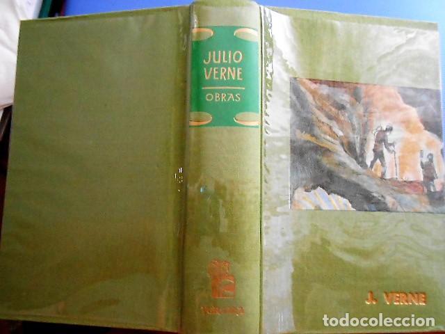 Libros antiguos: OBRAS DE JULIO VERNE. VERGARA 1961. TAPA DURA. 1054 PÁGINAS. - Foto 2 - 163563646
