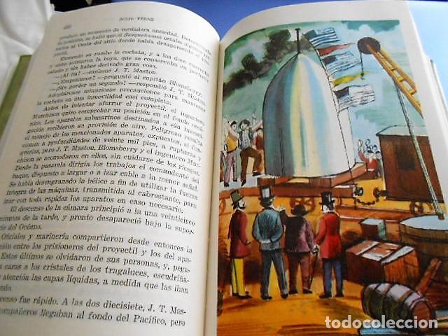 Libros antiguos: OBRAS DE JULIO VERNE. VERGARA 1961. TAPA DURA. 1054 PÁGINAS. - Foto 4 - 163563646