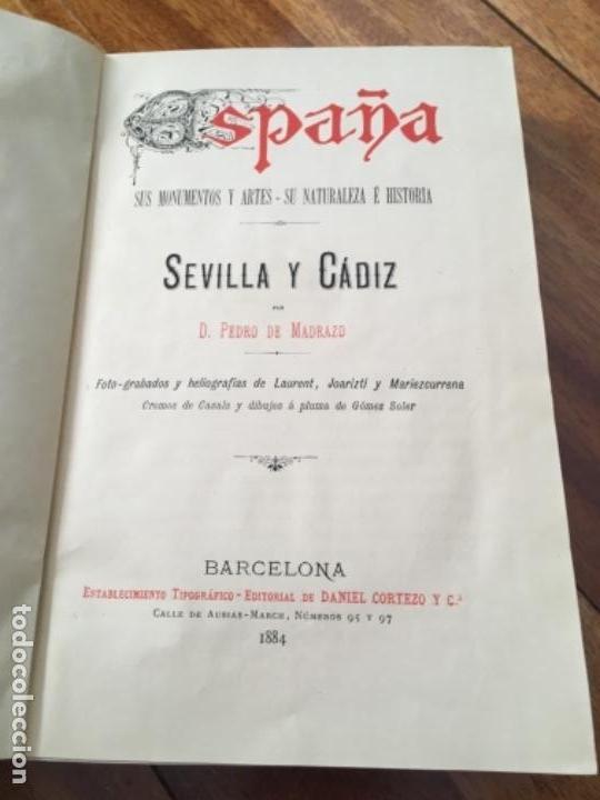 Libros antiguos: ESPAÑA. SUS MONUMENTOS Y ARTES- SU NATURALEZA E HISTORIA. SEVILLA Y CÁDIZ POR D. PEDRO DE MADRAZO - Foto 5 - 163599074