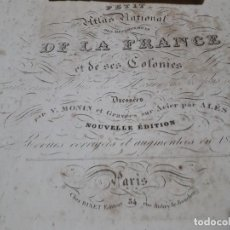 Libros antiguos: ATLAS PARIS 1840 GRABADOS ACERO 95 MAPAS Y A COLOR. Lote 163617238