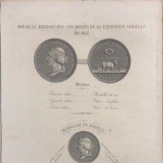 Libros antiguos: MEMORIA SOBRE LOS PRODUCTOS DE LA AGRICULTURA ESPAÑOLA EN LA EXPOSICION GENERAL DE 1857. LEER.. Lote 163707006