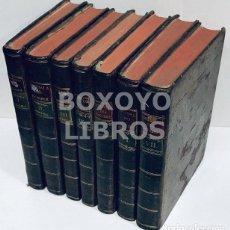 Libros antiguos: HERVÁS Y PANDURO, LORENZO. HISTORIA DE LA VIDA DEL HOMBRE. TOMOS I AL VII. Lote 163739834