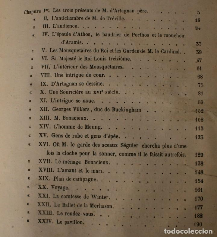 Libros antiguos: ANTIGUO LIBRO IGNORO AÑO: LES TROIS MOUSQUETAIRES A. DUMAS – LOS TRES MOSQUETEROS - RARA EDICION - Foto 2 - 163740930
