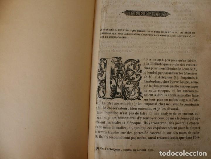 Libros antiguos: ANTIGUO LIBRO IGNORO AÑO: LES TROIS MOUSQUETAIRES A. DUMAS – LOS TRES MOSQUETEROS - RARA EDICION - Foto 5 - 163740930