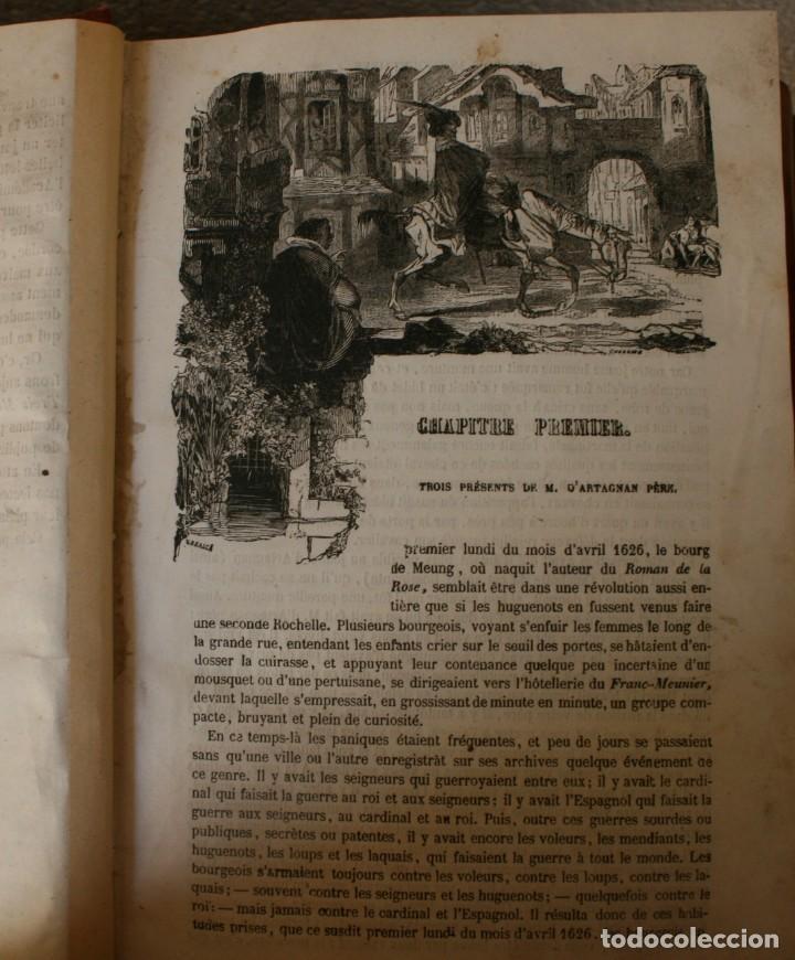 Libros antiguos: ANTIGUO LIBRO IGNORO AÑO: LES TROIS MOUSQUETAIRES A. DUMAS – LOS TRES MOSQUETEROS - RARA EDICION - Foto 6 - 163740930
