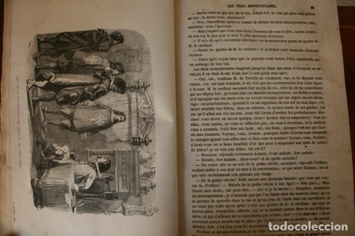 Libros antiguos: ANTIGUO LIBRO IGNORO AÑO: LES TROIS MOUSQUETAIRES A. DUMAS – LOS TRES MOSQUETEROS - RARA EDICION - Foto 7 - 163740930