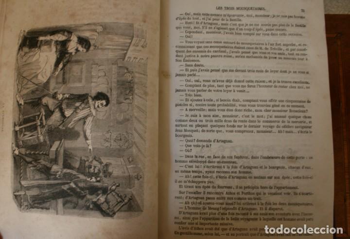 Libros antiguos: ANTIGUO LIBRO IGNORO AÑO: LES TROIS MOUSQUETAIRES A. DUMAS – LOS TRES MOSQUETEROS - RARA EDICION - Foto 8 - 163740930