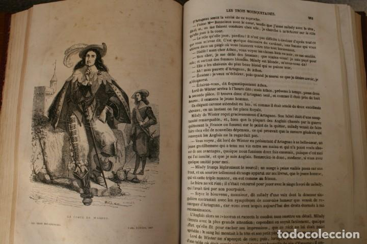 Libros antiguos: ANTIGUO LIBRO IGNORO AÑO: LES TROIS MOUSQUETAIRES A. DUMAS – LOS TRES MOSQUETEROS - RARA EDICION - Foto 9 - 163740930