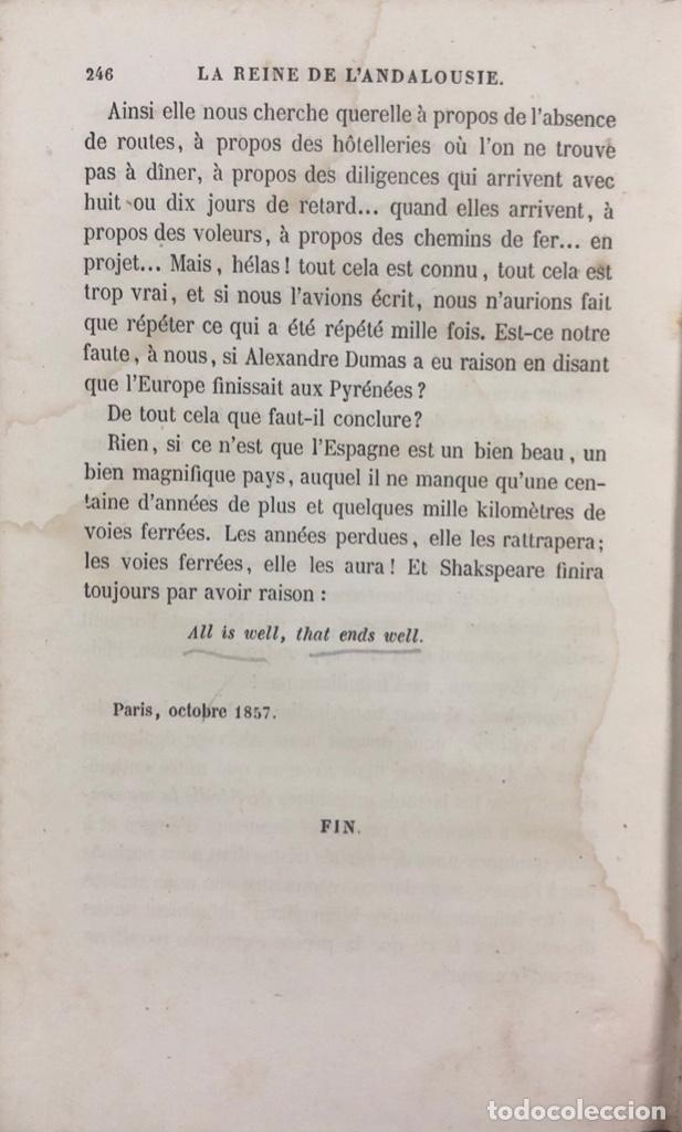 Libros antiguos: LA REINE DE LANDALOUSIE. PAULIN NIBOYET. LIBRERIA DÜRR. LEIPZIG, 1857. PAGS 246. LIBRO EN FRANCES - Foto 6 - 163858222