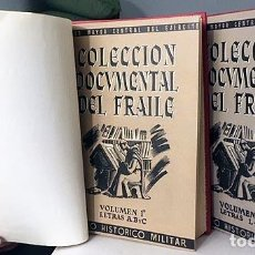 Libros antiguos: COLECCIÓN DOCUMENTAL DEL FRAILE (4 VOLÚMENES EN 2 TOMOS, COMPLETO) GUERRA INDEPENDENCIA. PROCLAMAS. Lote 163936434
