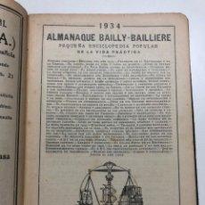 Alte Bücher - ALMANAQUE BAILLY-BAILLIERE. 1934 - 163965958