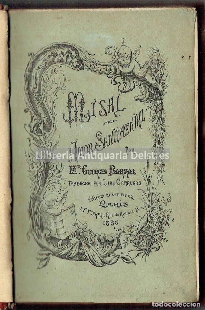 [MUJERES. BREVIARIO. PARIS, 1885] BARRAL, GEORGES. MISAL DEL AMOR SENTIMENTAL. (Libros Antiguos, Raros y Curiosos - Pensamiento - Otros)