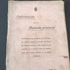 Libros antiguos: -INFORMACIÓN SOBRE LA HACIENDA PROVINCIAL- BILBAO AÑO 1913.. Lote 163967806