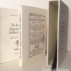Libros antiguos: DE BENE DISPONENDA BIBLIOTHECA. (ARAOZ 1631) FACSÍMIL Y TRADUCCIÓN. (LIBROS BIBLIOFILIA. Lote 164004110